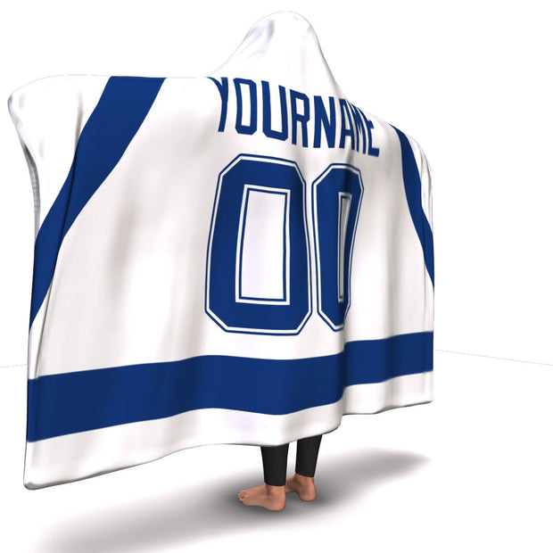 Tampa Bay Hockey Away Hooded Blanket| Unique hockey gift idea