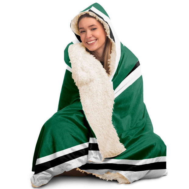 Dallas Custom Hockey Hooded Blanket| Unique hockey gift idea