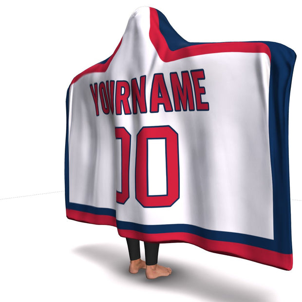 Washington Hockey Away Hooded Blanket| Unique hockey gift idea