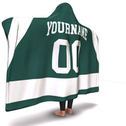 Michigan State Hockey Hooded Blanket| Unique hockey gift idea