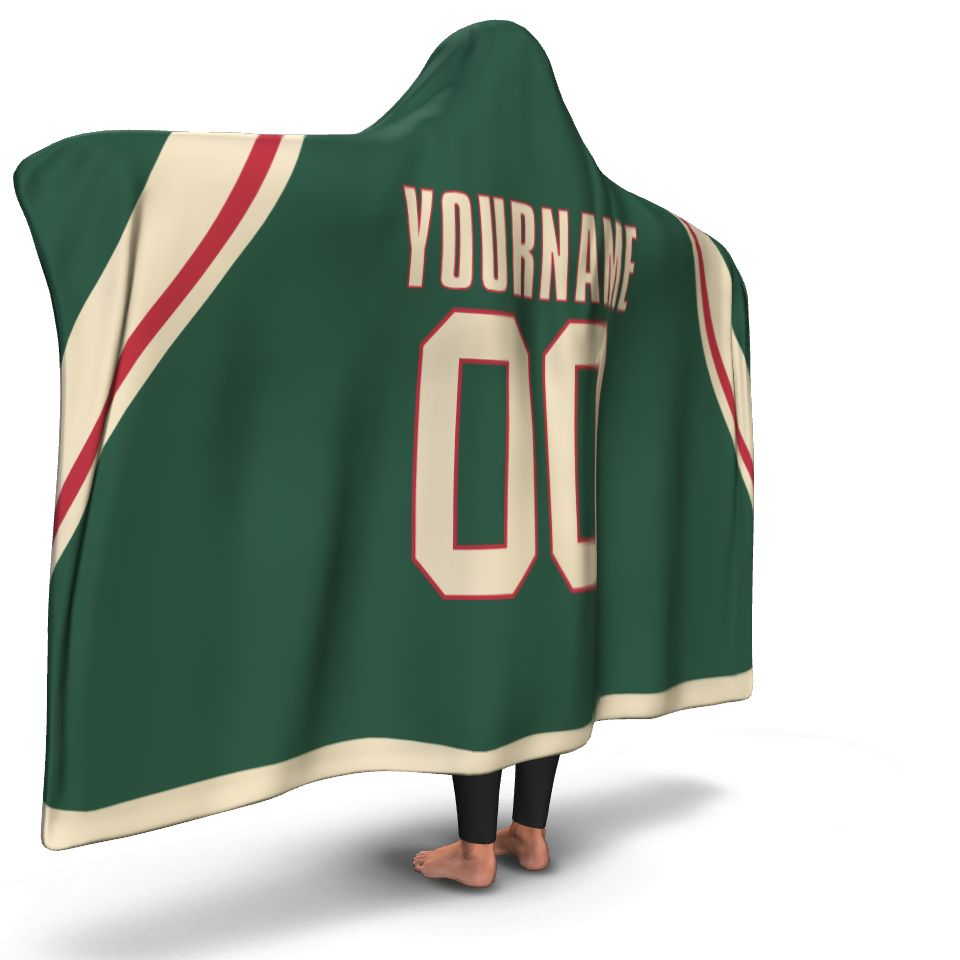 Minnesota Hockey Hooded Blanket - HockeyAF