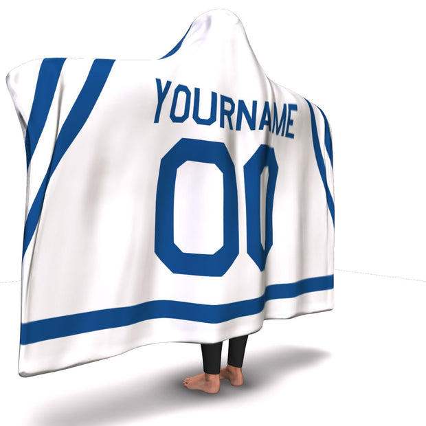 Toronto Hockey Away Hooded Blanket| Unique hockey gift idea