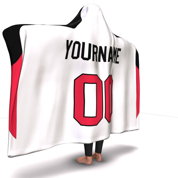 Ottawa Hockey Away Hooded Blanket| Unique hockey gift idea