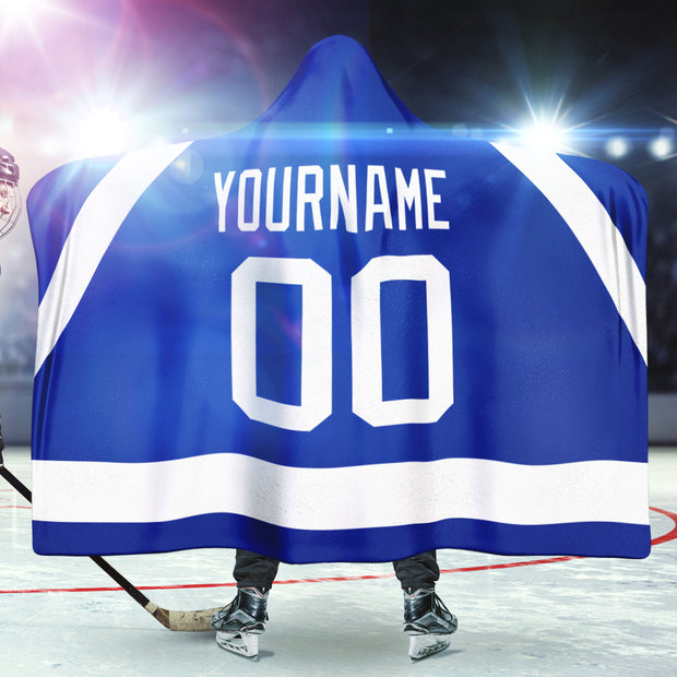 Tampa Bay Hockey Hooded Blanket| Unique hockey gift idea