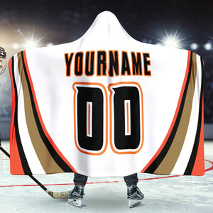 Anaheim Hockey Away Hooded Blanket - HockeyAF
