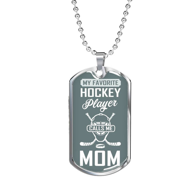 My Favorite Hockey Player Calls Me Mom (Goalie Addition)| Unique hockey gift idea