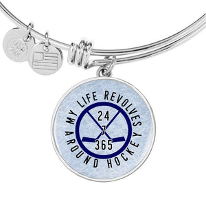 My Life Revolves Around Hockey Bangle - HockeyAF