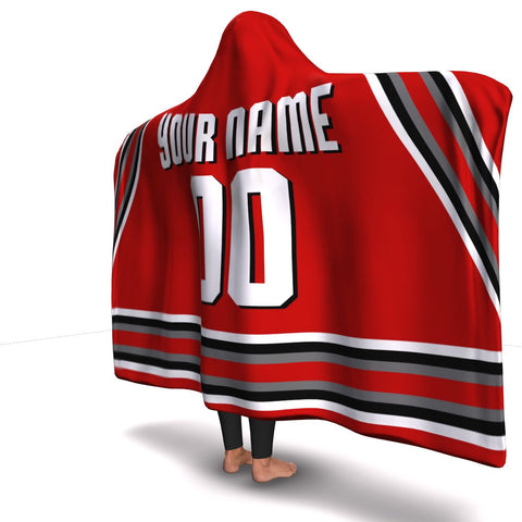 Ohio Hockey Hooded Blanket| Unique hockey gift idea