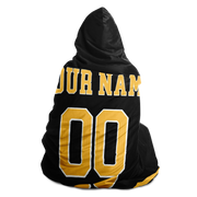 Boston Custom Hockey Hooded Blanket| Unique hockey gift idea