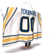 Buffalo Hockey Away Hooded Blanket| Unique hockey gift idea