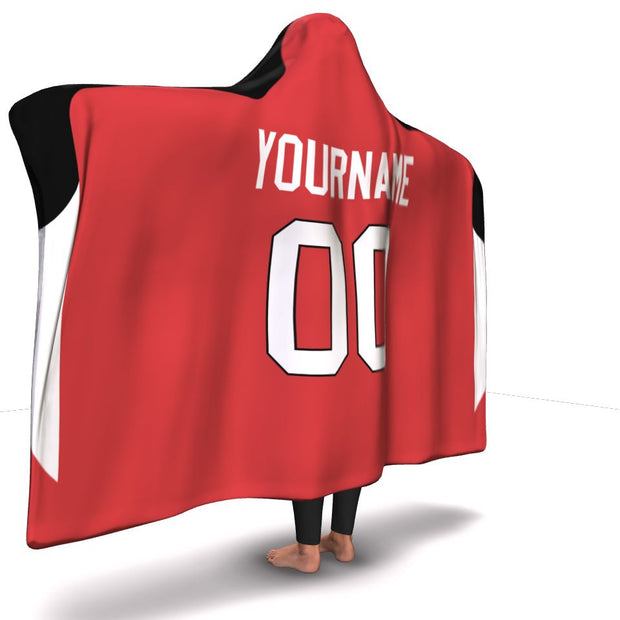 Ottawa Hockey Hooded Blanket| Unique hockey gift idea