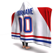 Montreal Hockey Away Hooded Blanket| Unique hockey gift idea