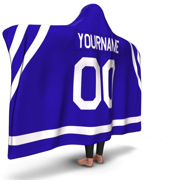 Toronto Hockey Hooded Blanket| Unique hockey gift idea