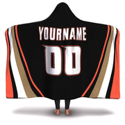 Anaheim Hockey Hooded Blanket| Unique hockey gift idea