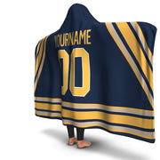 Buffalo Hockey Hooded Blanket| Unique hockey gift idea