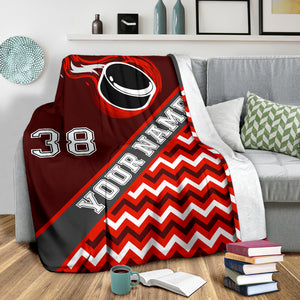 Personalized Premium Hockey Blanket - HockeyAF