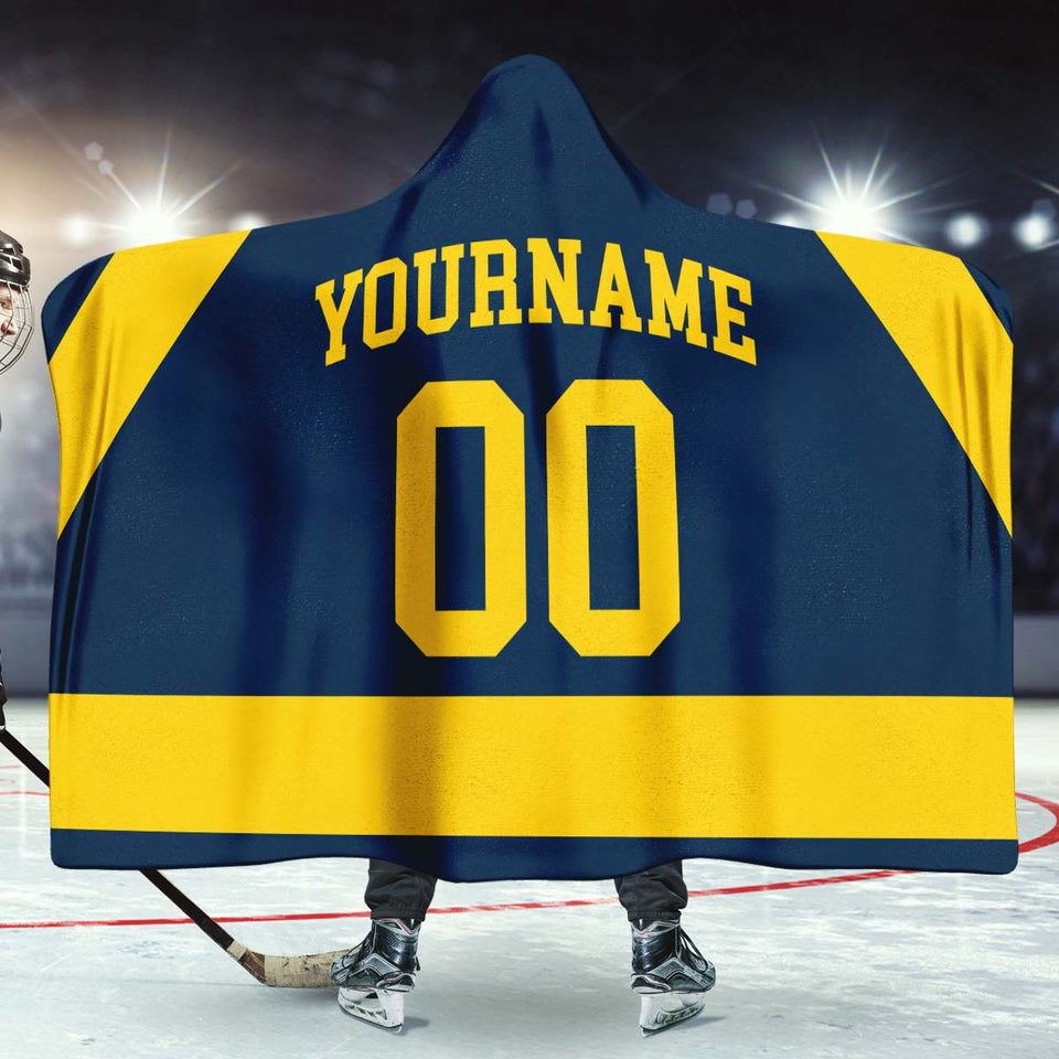 Michigan Hockey Hooded Blanket - HockeyAF