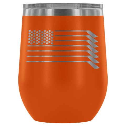 USA Hockey Wine Tumbler| Unique hockey gift idea