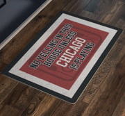 Chicago Hockey Doormat| Unique hockey gift idea