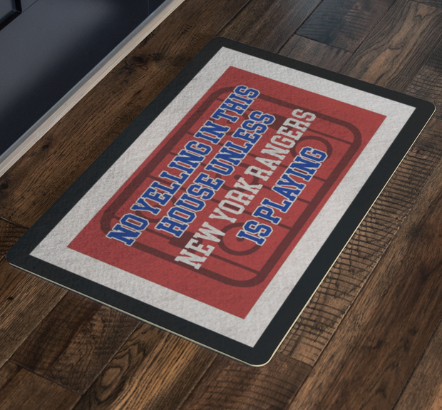 New York Hockey Doormat| Unique hockey gift idea