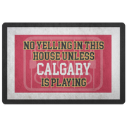 Calgary Hockey Doormat| Unique hockey gift idea