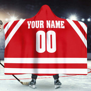 Wisconsin Hockey hooded Blanket - HockeyAF