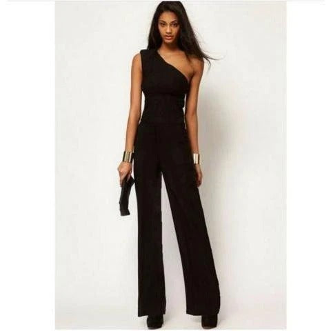 Simple One Shoulder Jumpsuit~