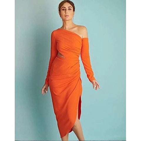Kareena Kapoor Orange Color Sexy Dress