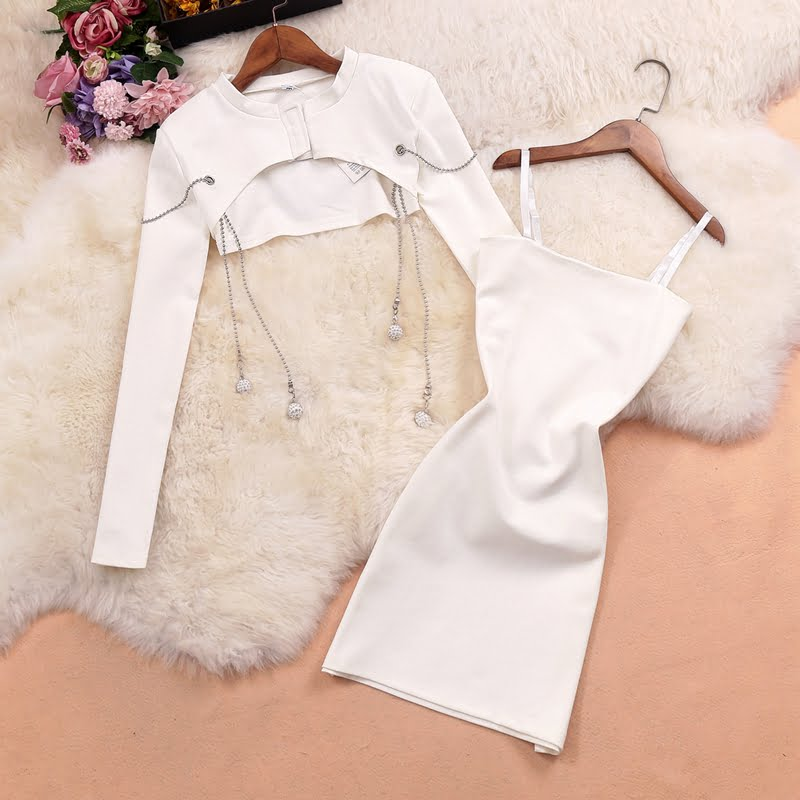 WOMEN'S SEXY BLOUSE CROP TOP WITH SLING DRESS (PRE ORDER)
