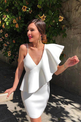 One Shoulder Asymmetrical Ruffle Party Dress (PRE ORDER)