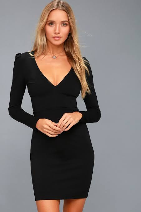 ELEGANT SOLID V NECK DRESS (PRE ORDER)