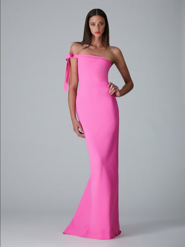 ONE SHOULDER KNOT GOWN (PRE ORDER)