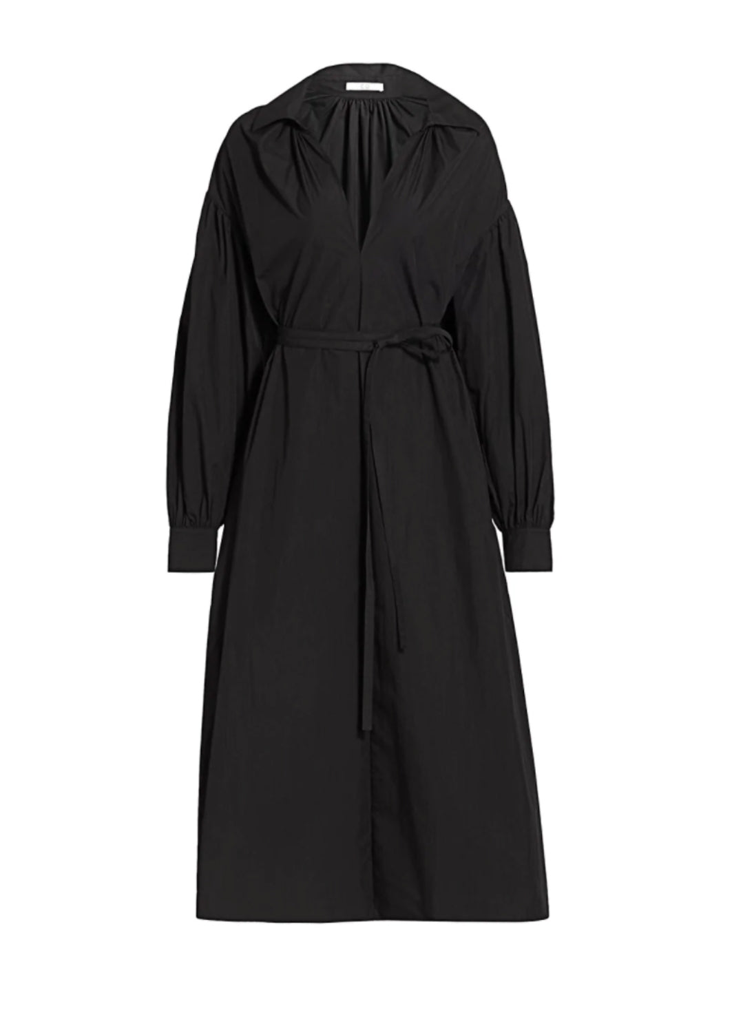 V NECK COLLARED ROBE SLIT DRESS (PRE ORDER)