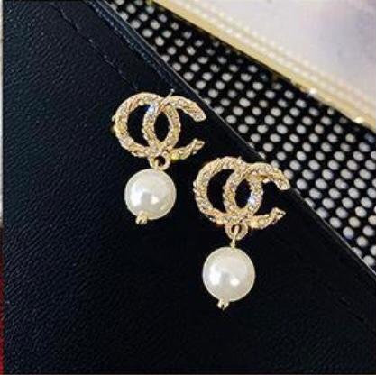 PEARL DROP  CHANNEL EARRINGS