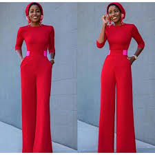new red stylish jumpsuit (PRE ORDER)