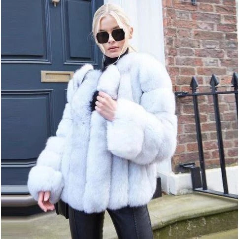 Load image into Gallery viewer, Autumn And Winter Fashion Faux Fur Coat