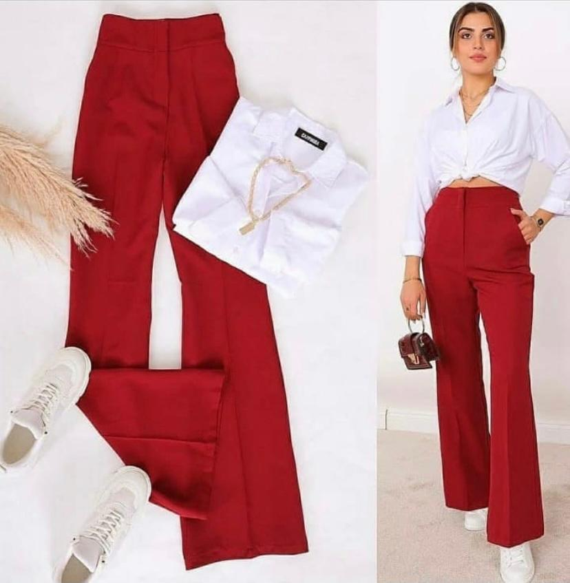 NEW STYLE SOLID RED & WHITE MATCHING SET  (PRE ORDER)