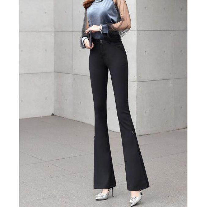 Horn Sleeve Tall Waist Long Pants~ - paparrazicloset