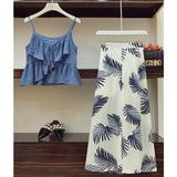 Printed Wide Legged  Two Piece Female co-ordinate - paparrazicloset