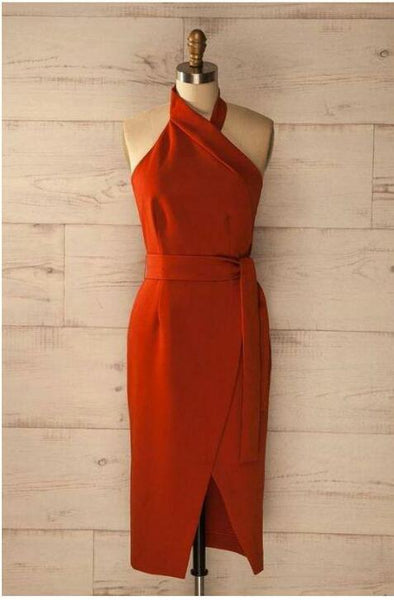 Red Alter Neck Dress (PRE ORDER)