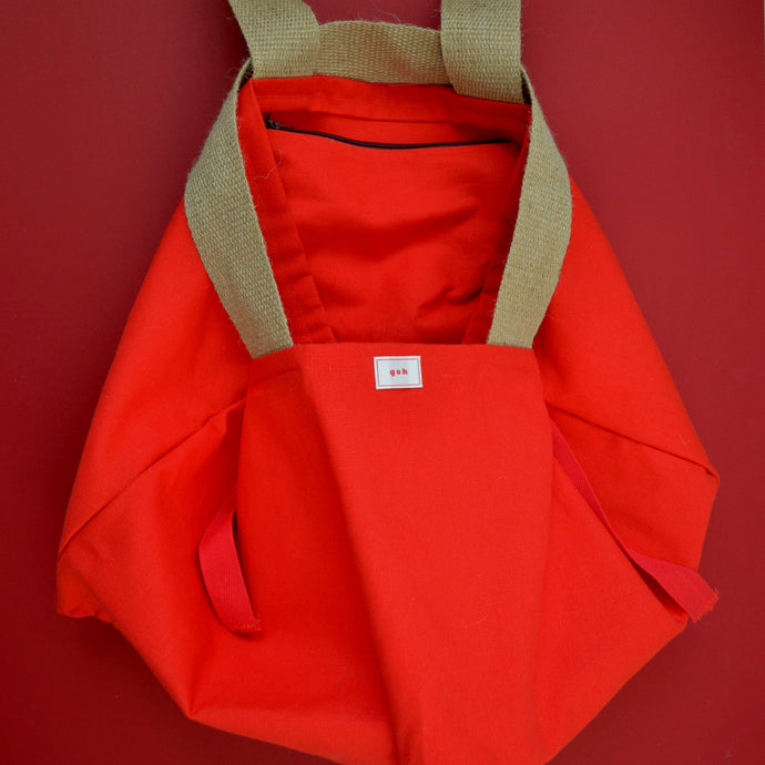 Red Cube Chroma Tote