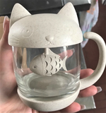Meow Prestige Cat Lovers Creative Tea Strainer Cat Tea Infuser Cup Grasses Teapot for Tea & Coffee Filter