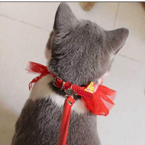 Meow Prestige Store for Cat Lovers Hand-Made Cat Christmas Lace Collar