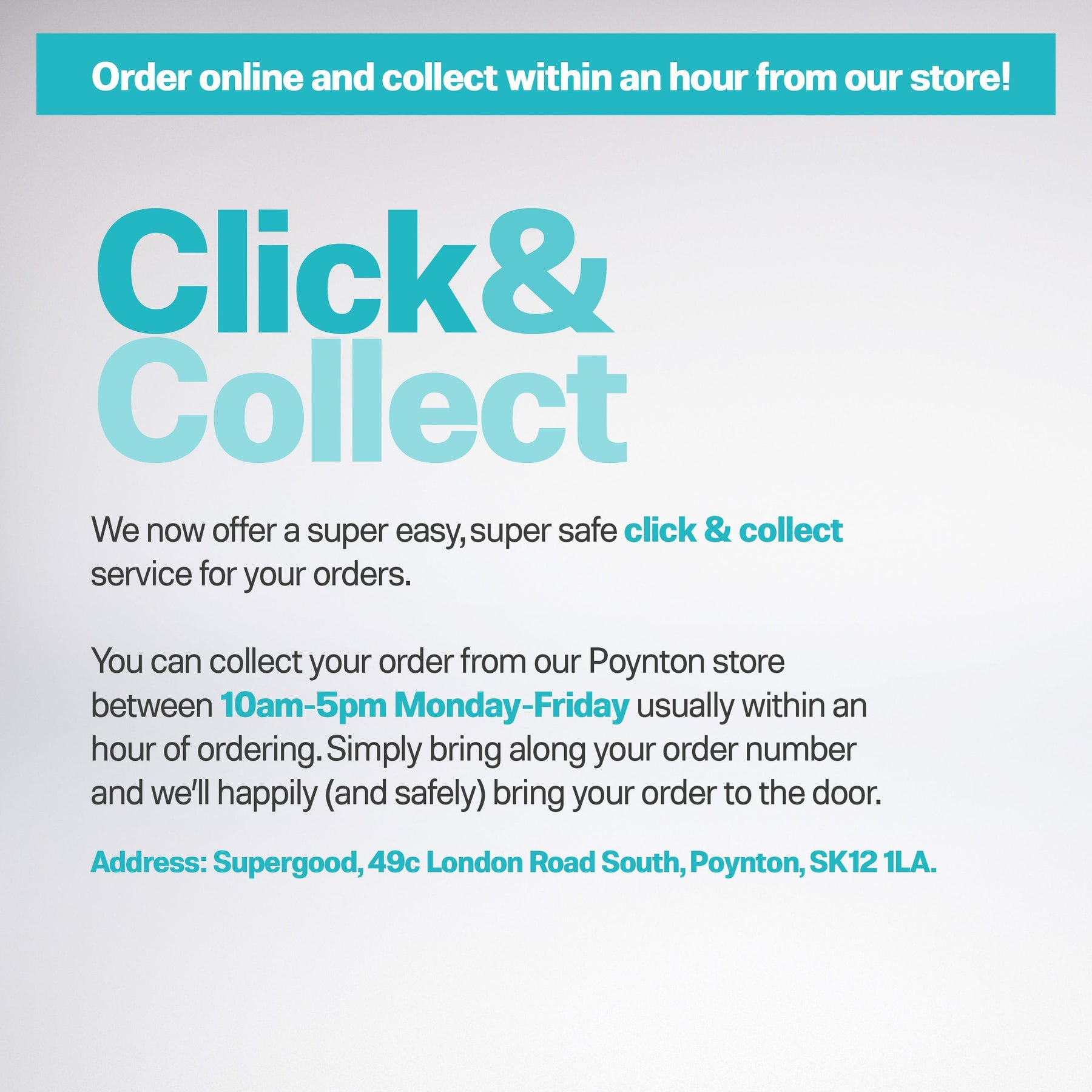 News-In-Store Click & Collect | We Are Supergood.