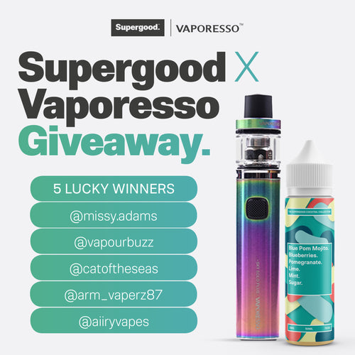 Supergood X Vaporesso Giveaway.