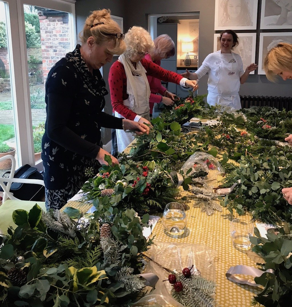Christmas Wreath & Card Making 6th Dec - Creative Workshops Yorkshire