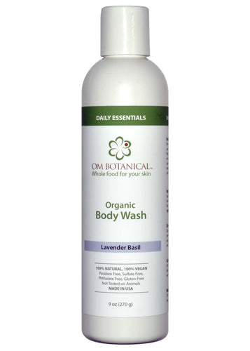 Organic Body Wash with Lavender and Basil- Sulfate Free
