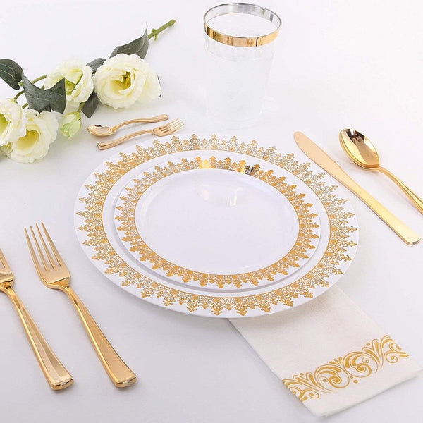 25pcs Rose Gold Disposable Plastic Cutlery Tableware 1pcs Tablecloth 7pcs Ballon For Wedding Baby Shower Birthday Party Supplies