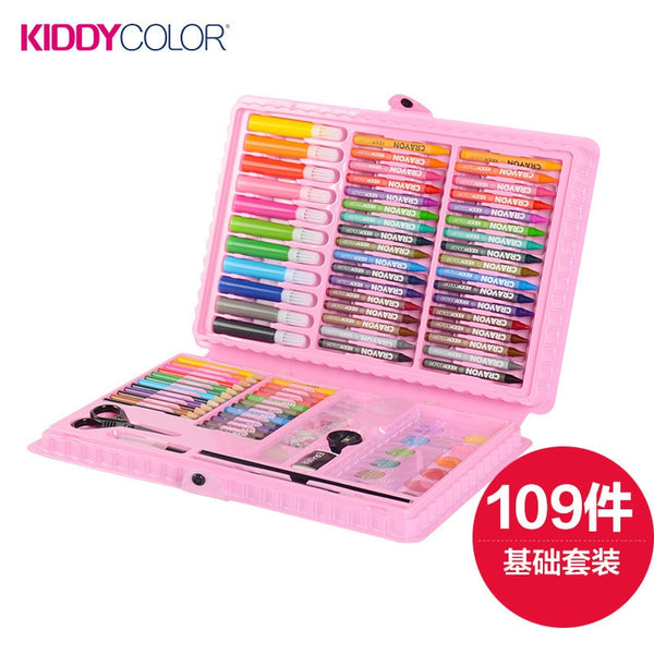 Children Stationery Set Painting Tool Fine Arts Learning Supplies Watercolor Pen exquisite Box Kindergarten Back School Gift