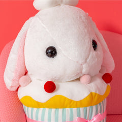 1Pcs 40CM/48CM Cute Cupcakes Big Eyes Lop Rabbit Plush Toy Pillow Doll Kids Gifts Home Sofa Decor Office Pillow Cushion Dolls